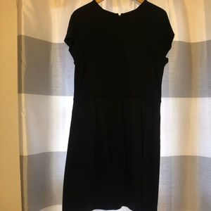 Banana Republic Black Dress Jewel Neck Sz 14
